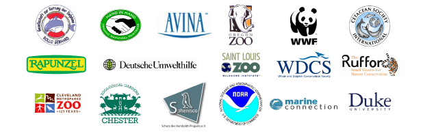 WDCS / WWF - Perú / CSI / Marine Connection / AVINA / Oregon Zoo / Saint Louis Zoo / Cleveland Zoo / Rufford Small Grants / GRD / Rapunzel / Hand to Hand / DUH / Chester Zoo / NOAA / Sphenisco